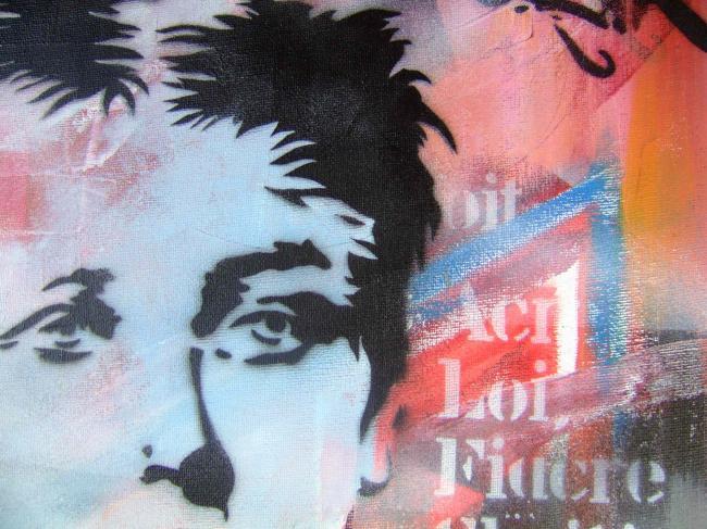 Rimbaud - Pochoir sur toile